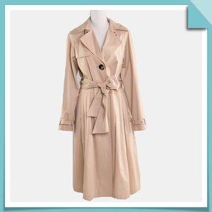 Dana Buchman Single Breasted Trench Coat Size S